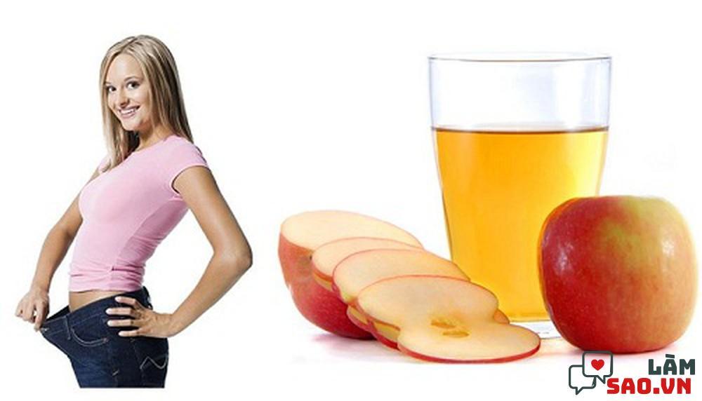 Giấm táo giúp giảm mỡ bụng