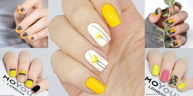 Mẫu nail vàng ánh kim sang trọng