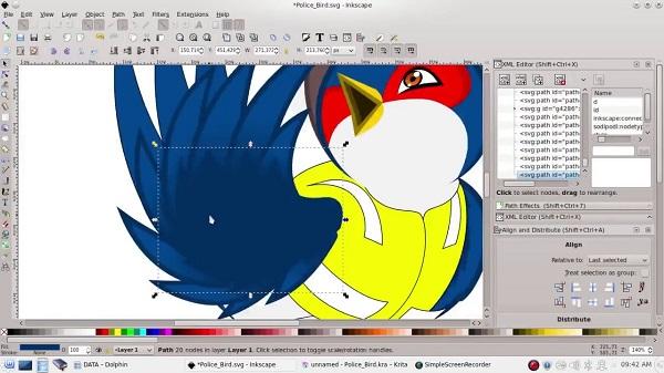 Phần mềm chỉnh sửa ảnh miễn phí Inkscape